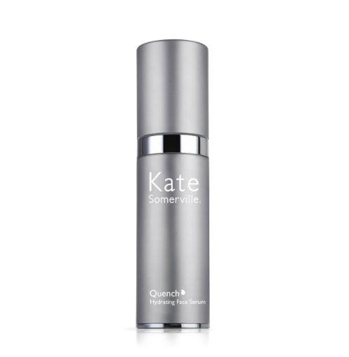 """Markle told Beauty Banter she uses Kate Somerville's Quench serum to """"maintain the glow"""" she used to get from Somerville's facials in Los Angeles.<br /><strong><br /><a href=""""https://www.katesomerville.com/anti-aging-products-quench-face-serum"""" target=""""_blank"""" rel=""""noopener noreferrer"""">Kate Somerville Quench hydrating face serum</a>, $75</strong>"""