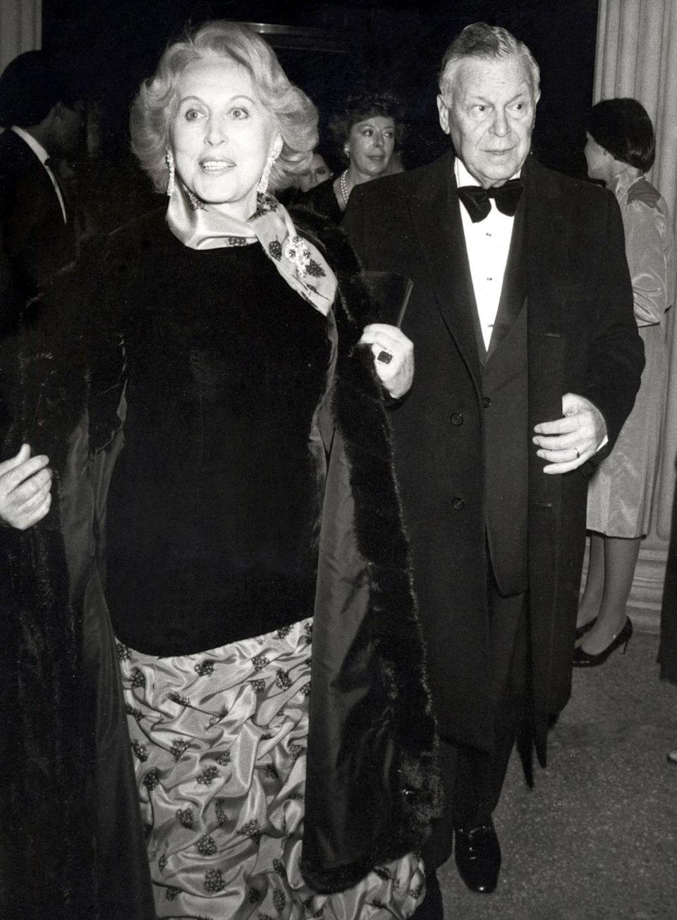 """<p>Beauty mogul Estée Lauder <a href=""""https://www.elcompanies.com/en/who-we-are/the-lauder-family/the-estee-story"""" rel=""""nofollow noopener"""" target=""""_blank"""" data-ylk=""""slk:married Joseph Lauder in 1930"""" class=""""link rapid-noclick-resp"""">married Joseph Lauder in 1930</a> before moving to Manhattan and building a company together. Estée and Joseph divorced in 1939, but eventually reunited and remarried in 1942. They were happily married until Joseph's death in 1983. </p>"""