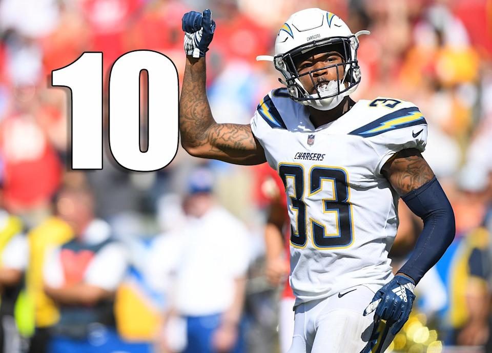 <p>I don't get how a team this undeniably talented can disappoint every single season. They better put a heck of a statement game on the Bills in Week 2 to get anyone back on their bandwagon. (Derwin James) </p>