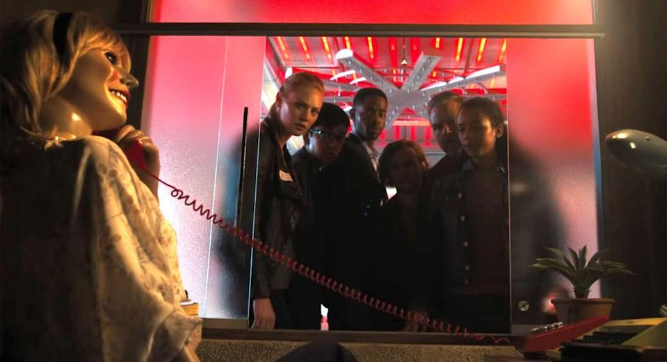 <p><strong>IMDb says: </strong>Six strangers find themselves in a maze of deadly mystery rooms and must use their wits to survive.</p><p><strong>We say:</strong> It would be worth getting cooked in a giant oven for $1million though, right?</p><p><strong>Who's in it? </strong>Taylor Russell, Logan Miller, Jay Ellis, Tyler Labine</p>