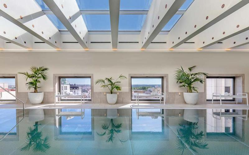 Find havens of calm in the centre of buzzing Madrid at hotels like Barcelo Torre de Madrid that come with sumptuous spas