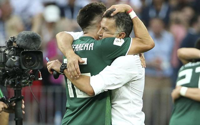 "The reaction from Juan Carlos ­Osorio to being told that an ­earthquake had registered in ­Mexico City amid the celebrations for Hirving Lozano's winning goal against Germany told you ­everything about why this perhaps should not register quite so highly on the Richter scale of World Cup upsets. ""It did!?"" said the Mexico ­manager. ""When we scored I sat down, thought about the plan and how not to concede over the next five minutes."" Osorio is nicknamed the ""Professor"" and his planning ­famously extends to copious notes and ring-binders, but delve even deeper into his remarkable journey to football's greatest stage and the suspicion only grows that there will be no more meticulously prepared team in Russia. He had certainly identified Germany's weaknesses with forensic accuracy here and his players were duly superb in executing a ­game plan that ruthlessly exploited a ­position that was supposed to be Germany's great strength. Joshua Kimmich has been regularly hailed as the best right-back in the world over the past year for the way he bombs forward, creates chances and scores goals. The flipside, however, is that he also leaves great spaces behind him. For Bayern Munich, usually so dominant and secure in possession, it is rarely noticed. But starting alongside two centre-backs ­approaching 30 and the potential hazards against a fast, well drilled and technical adept opposition soon became clear. And this is just exactly what Mexico have become under the charismatic Osorio, who has now won 32 of his 48 matches as manager. Osorio would have known that Germany would be dominant in possession but, in clearly targeting the big spaces down the defending champions' right with counter-­attacks, their threat persisted even while largely camped in their own half for the final 45 minutes. Celebrations in Mexico City registered on the Richter Scale Credit: REUTERS/Gustavo Graf Born in Colombia, Osorio saw his career as a player ended by injury at the age of 26, but his determination to succeed as a coach was extraordinary. According to the New York Times, he moved to the United States as an illegal immigrant, working in construction and food service, before regained his legal status and then completing a ­degree in exercise science at Southern Connecticut State University. He sold many of his belongings to travel to Liverpool to study ­football and science at John Moores University and it was here that, ­after asking to borrow a ladder from a family who lived adjacent to Liverpool's Melwood training ground, he would secretly watch Roy Evans and Gerard Houllier at work. Jobs in sports science followed at Major League Soccer and then with Manchester City, but he never stopped pushing to learn and ­persuaded just about all the biggest managerial names in Europe to let him study them at work. The ring-binders were growing ever thicker and opportunities to put his ­theories in practice would follow in Colombia, the United States and Brazil, before taking the Mexico job in 2015. Osorio His tactical methods, which ­centre largely on creating ­unpredictable patterns of movement among his strikers through repetitive practice, have been ­described by Mexico's record ­goalscorer Javier Hernández as ­bordering on ""genius"". Osorio has said that he wants Mexico ""to take movement to new levels"". Results have also followed, even if supporters have been ­curiously slow to celebrate a team who topped Concacaf's World Cup qualifying and reached the quarter-finals of the Copa America and then the semi-finals of the Confederations Cup. ""They're not happy with us ­winning,"" said Osorio. ""We have to win and humiliate the opposition. There is no country in the world that keeps so much pressure on a national team coach."" Expectations will now also follow after this marvellous performance, even if Osorio naturally has a plan. ""We will work on psychology – we have videos, movies and set phrases,"" he said. ""I carry the burden of pressure. The players should enjoy the game and play football like they did today against Germany. When they win, they take the credit. When they lose, I will take the blame."" And so what were his last words before a match that has, quite literally, reverberated almost 7,000 miles back across the world? ""Focus on the beautiful game,"" said Osorio. ""Play for the love of winning, not the fear of losing."" WorldCup - newsletter promo - end of article"