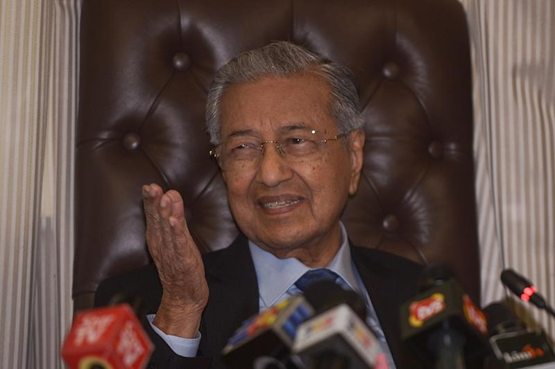 Yesterday, Dr Mahathir was quoted as saying that Malaysia will not allow foreigners to buy residential units in the US$100-billion Forest City project. — Picture by Mukhriz Hazim