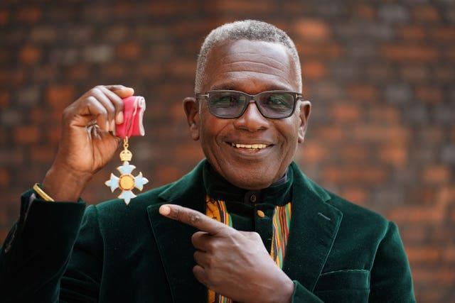 Rudolph Walker with his medal after the ceremony