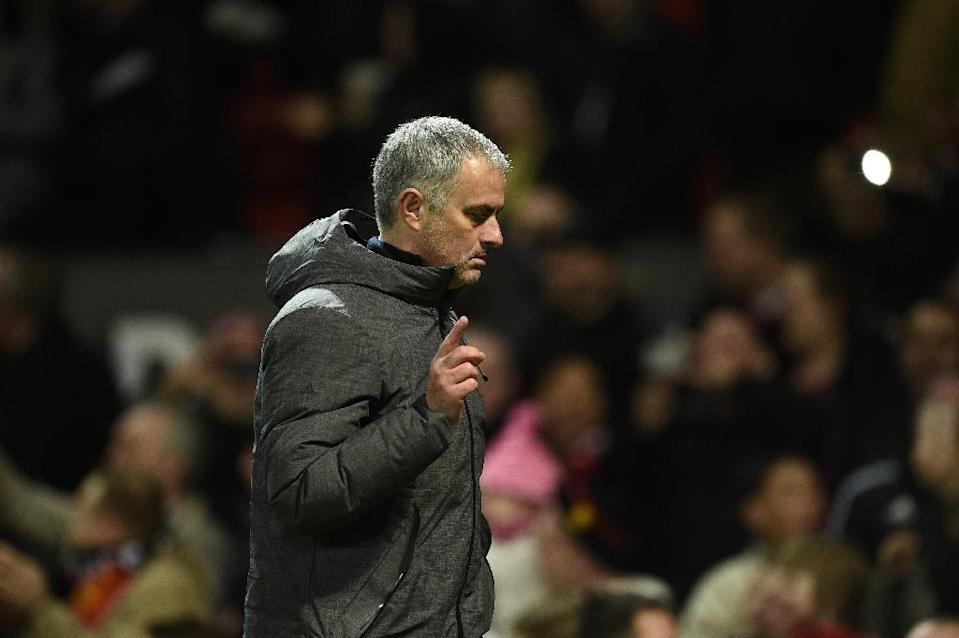 Manchester United manager Jose Mourinho will have to rejig his midfield as he attempts to boost his team's challenge for a place in next season's Champions League (AFP Photo/Oli SCARFF )