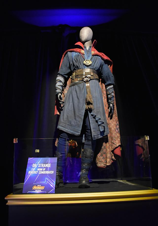 <p>This Dr. Strange outfit was worn by the one-and-only Benedict Cumberbatch. (Photo: Araya Diaz/Getty Images for Disney) </p>