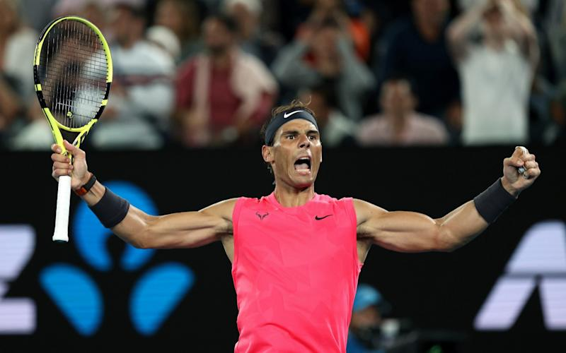 Nadal won a four-set thriller 6-3 3-6 7-6 (8-6) 7-6 (7-4). - Getty Images AsiaPac