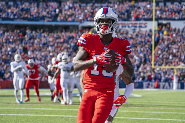 John Brown is showing off his full skillset with the Bills. (Photo by Gregory Fisher/Icon Sportswire via Getty Images)