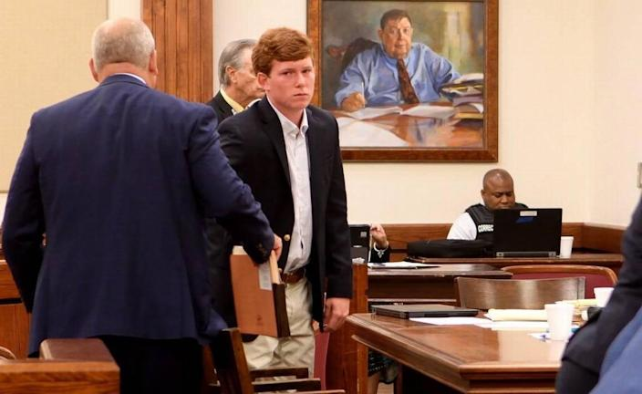 Paul Terry Murdaugh prepares to leave the Beaufort County Courthouse in July 2019 after having his bond modified for the three felony charges he faces for the Feb. 24 boat crash which killed Mallory Beach. Murdaugh's defense attorney Jim Griffin asked judge Michael G. Nettles to allow Murdaugh to travel within the state. Nettles ruled that Murdaugh may travel within the state with no other modifications. The state had asked for GPS monitoring as well as alcohol monitoring which was not a condition set by Nettles.