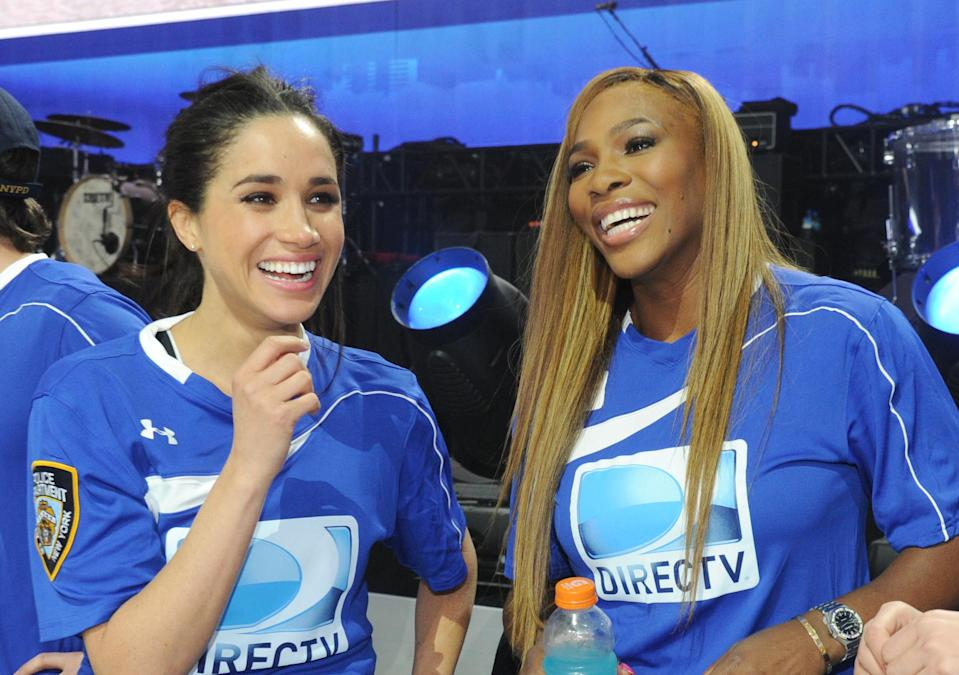 Meghan and Serena have been friends for years. [Photo: Getty]