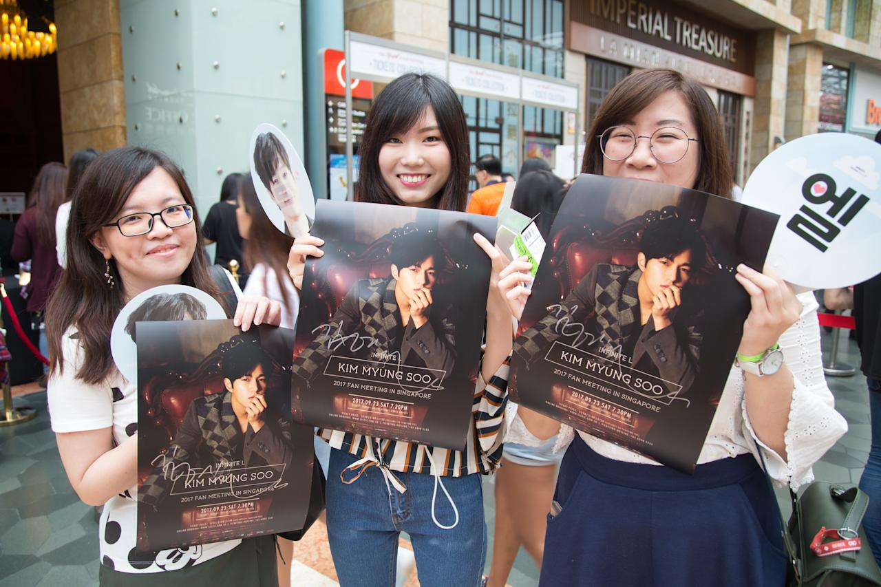 <p>Fans of INFINITE's Kim Myung-soo in Singapore (Photo: PTO Entertainment Pte Ltd) </p>