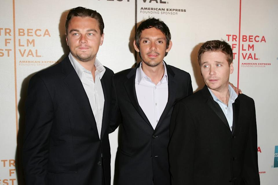 """<div class=""""inline-image__caption""""><p>Actors Leonardo DiCaprio and Lukas Haas pose with director Kevin Connolly at the premiere of <em>Gardener of Eden</em> at the 2007 Tribeca Film Festival on April 26, 2007, in New York City.</p></div> <div class=""""inline-image__credit"""">Bryan Bedder/Getty</div>"""