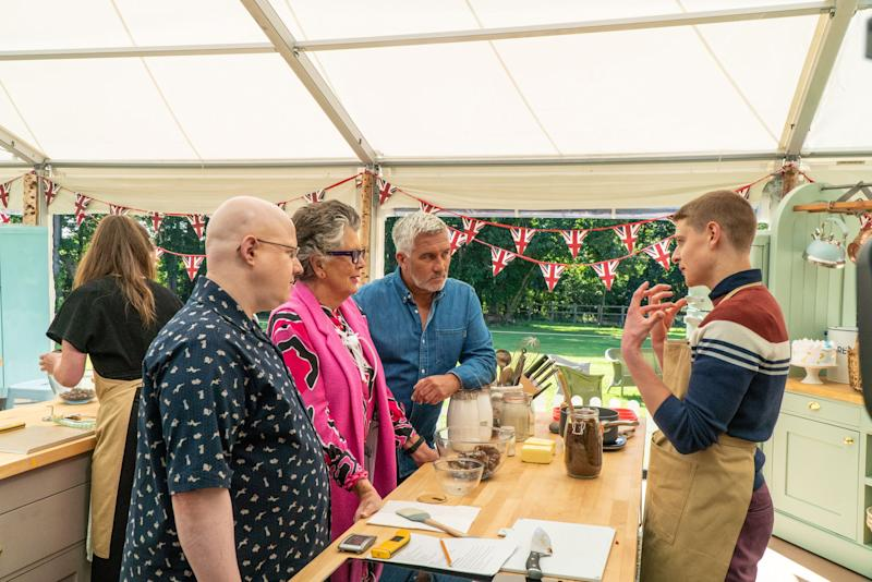 All 'Bake Off' cast and crew formed a bubble to film the 2020 series. (Channel 4)