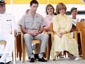 <p>Unclear: if Diana is simply focused or just not into it.</p><p>Clear: that Prince Charles is fully asleep.</p>