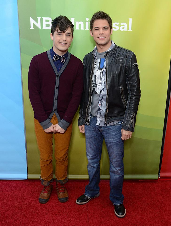 """Andy Mientus and Jeremy Jordan attend NBCUniversal's """"2013 Winter TCA Tour"""" Day 1 at Langham Hotel on January 6, 2013 in Pasadena, California."""