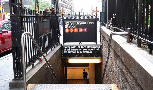 PHOTO: A man enters the 42nd Street-Bryant Park subway station on 6th Avenue on Sept. 3, 2018, in New York City. (Gary Hershorn/Getty Images)