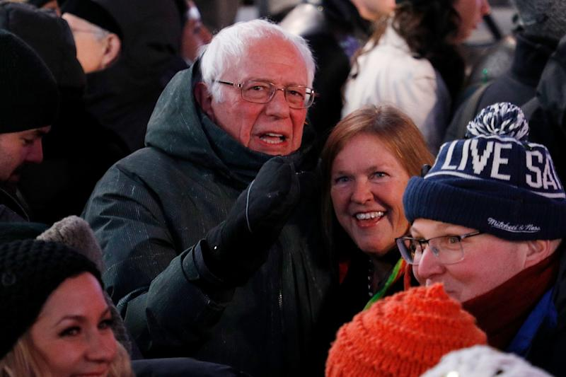 Bernie Sanders Had a Very Bernie New Year's Eve