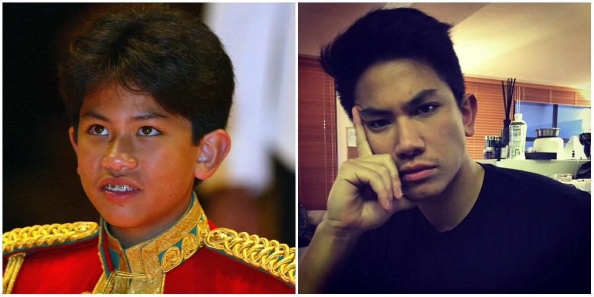 <p>What a transformation! Photo left, Prince Mateen was an awkward 13-year-old in 2004 when he attended the wedding of The Crown Prince of Brunei. At 25, he's an absolute stunner! <em>(Photos: Getty/Instagram.) </em> </p>
