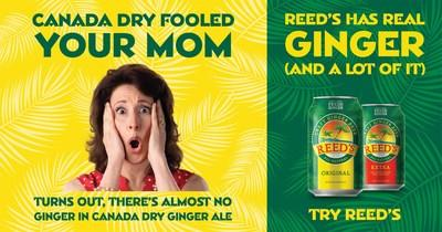 Your mom was fooled. Turns out, there's almost no ginger in Canada Dry Ginger Ale.