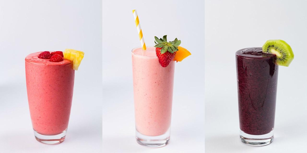"<p>If you always seem to find yourself in a rush, short of the time you need to whip up something special, then a healthy smoothie is the perfect shout. Ready in no time and full of tasty <a href=""https://www.delish.com/uk/food-news/a29187765/how-to-keep-veg-fruit-fresh/"" target=""_blank"">fruit and veg</a>, it really does make perfect sense. Great for giving you your daily fix of vitamins and an energy boost to get you through the day, you will simply love these healthy smoothie recipes.</p>"
