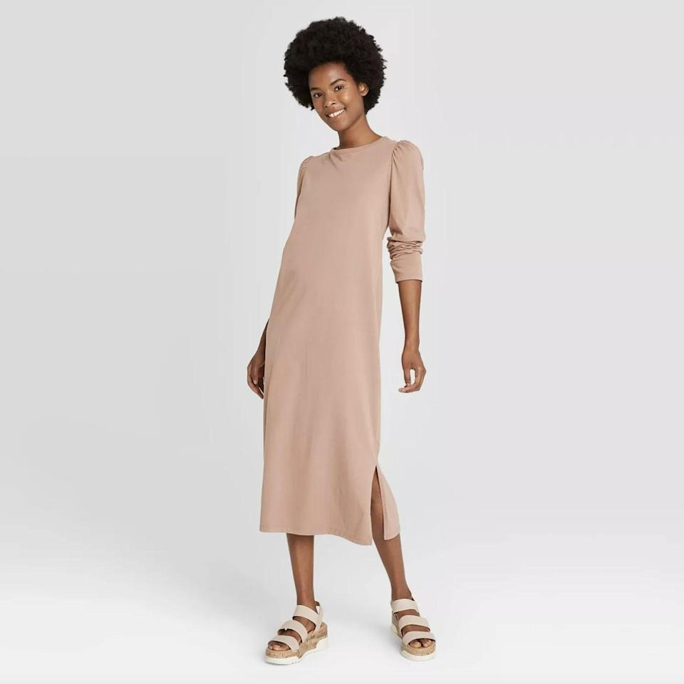 <p>A <span>Universal Thread Puff Long Sleeve T-Shirt Dress</span> ($25) is an easy guess for chilly summer nights, but you'll likely reach for it during the day as the cotton still keeps you cool in the sun.</p>