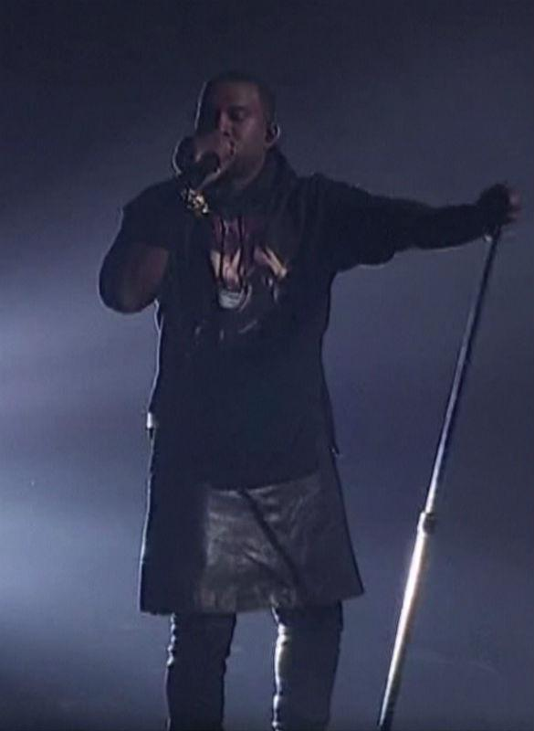 Kanye West 'Bans Leather Skirt Images' After Becoming Laughing Stock