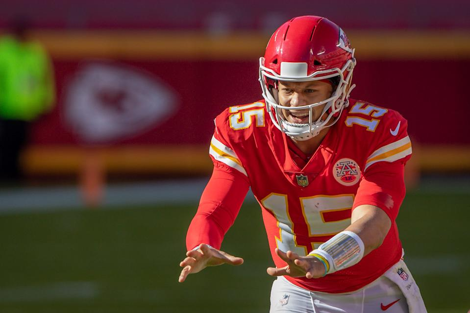 Patrick Mahomes is now the fastest quarterback in league history to throw 100 touchdowns. (William Purnell/Icon SportswireGetty Images)