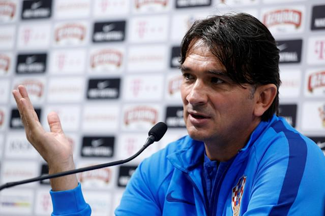 Soccer Football - World Cup - Croatia Press Conference - Croatia Training Camp, Saint Petersburg, Russia - June 22, 2018 Croatia coach Zlatko Dalic during the press conference REUTERS/Anton Vaganov