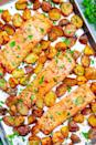 "<p>Fresh salmon makes for a mouthwatering entrée, protein-packed salad topping, light lunch, and more. This easy recipe can be made in less than half an hour, so who's ready to eat?</p> <p><strong>Get the recipe</strong>: <a href=""https://www.averiecooks.com/sheet-pan-lemon-dijon-baked-salmon-and-potatoes/"" class=""link rapid-noclick-resp"" rel=""nofollow noopener"" target=""_blank"" data-ylk=""slk:sheet pan lemon dijon baked salmon"">sheet pan lemon dijon baked salmon</a></p>"