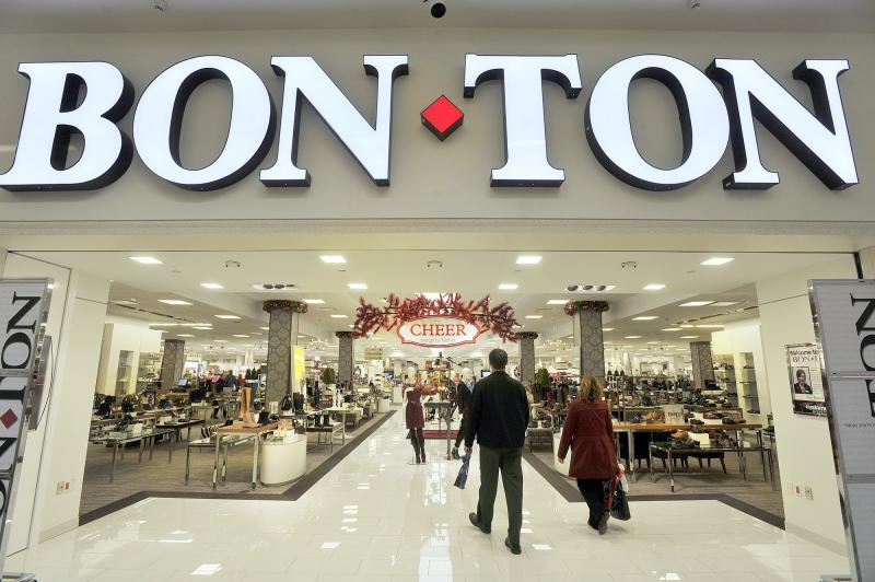 Bon Ton store in the Maine Mall was the first to begin promoting it's Christmas season.