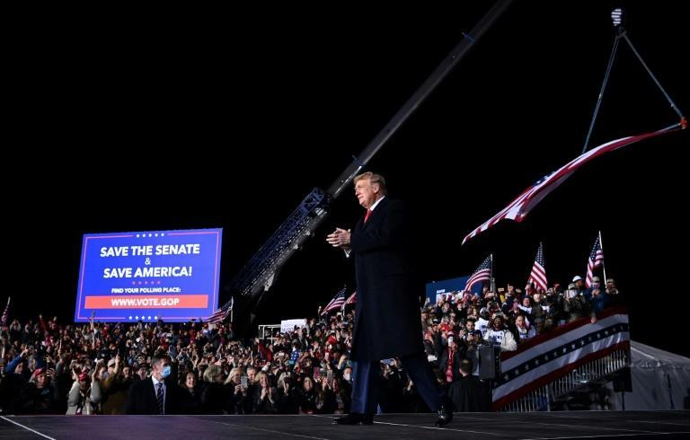 US President Donald Trump, in what may be his final political rally as commander in chief, urges Georgia voters to re-elect Republican senators in two runoff races on January 5, 2021 that will determine which party controls the US Senate