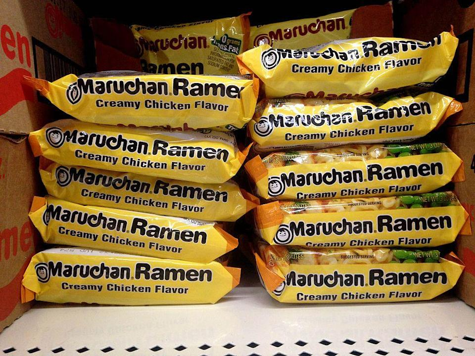 """<p>The cheap, instant <a href=""""/food-news/a47404/things-you-need-to-know-before-eating-ramen/"""" data-ylk=""""slk:Ramen"""" class=""""link rapid-noclick-resp"""">Ramen</a> noodles we relied on as college students were invented to fulfill demand for the beloved soup during World War II food shortages in Japan.</p>"""
