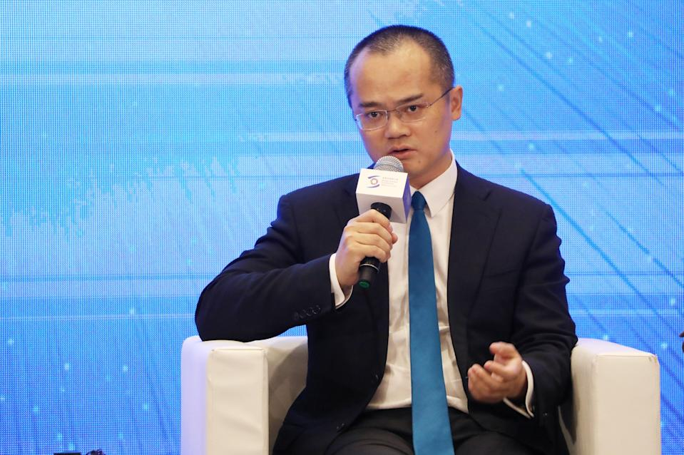 WUZHEN, CHINA - OCTOBER 20: Wang Xing, chairman, chief executive officer and co-founder of Meituan Dianping, speaks during the 6th World Internet Conference (WIC) at Wuzhen International Internet Exhibition & Convention Center on October 20, 2019 in Wuzhen, Zhejiang Province of China. The three-day WIC opened in Wuzhen of Zhejiang province on Sunday, with the theme of 'Intelligent Interconnection for Openness and Cooperation: Building a Community with a Shared Future in Cyberspace'. (Photo by VCG/VCG via Getty Images)
