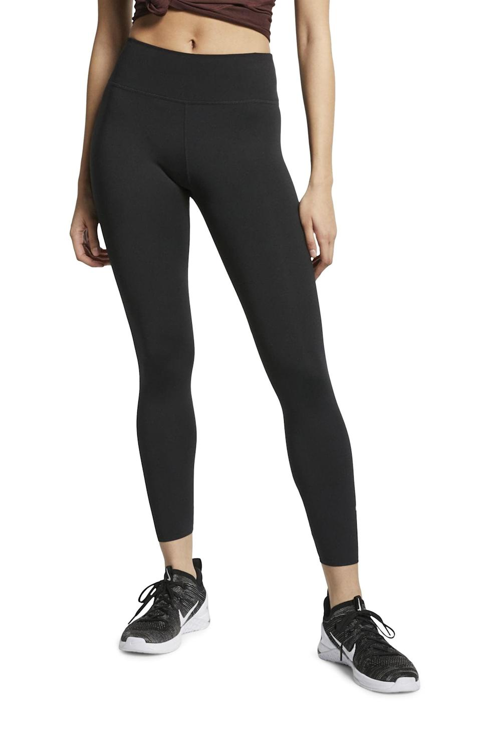 <p>Get moving in these cult-favorite <span>Nike One Lux 7/8 Tights</span> ($63, originally $90).</p>