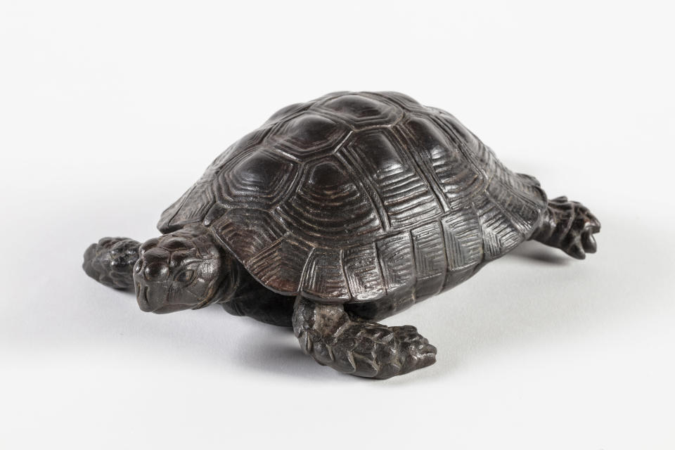 One of the four returned tortoises at Kingston Lacy, Dorset (James Dobson/National Trust/PA).