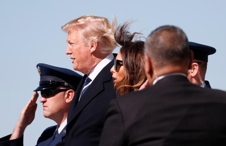 U.S. President Donald Trump attends Billy Graham funeral
