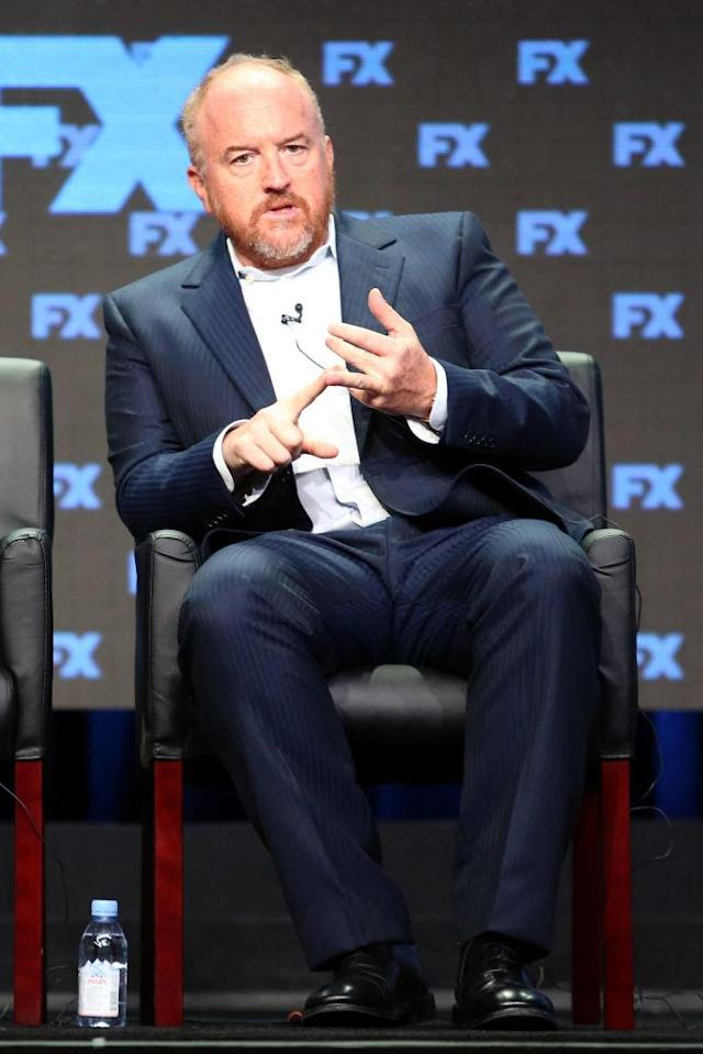 Louis C.K. speaks at the 2017 Summer Television Critics Association Press Tour. (Photo: Frederick M. Brown/Getty Images)