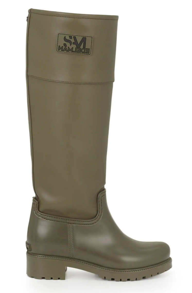 Sam Edelman Annabelle Waterproof Rain Boot in Moss Green Matte