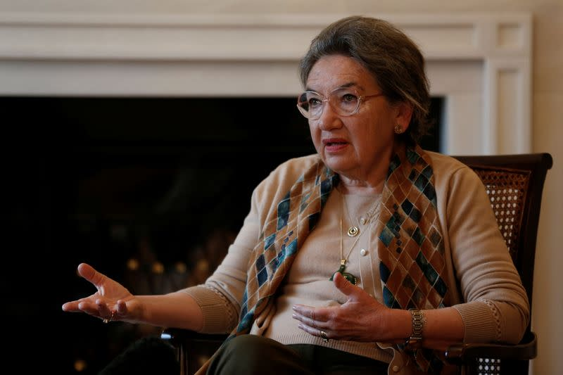 Acar, one of the academics who drafted the Istanbul Convention, speaks during an interview with Reuters in Ankara