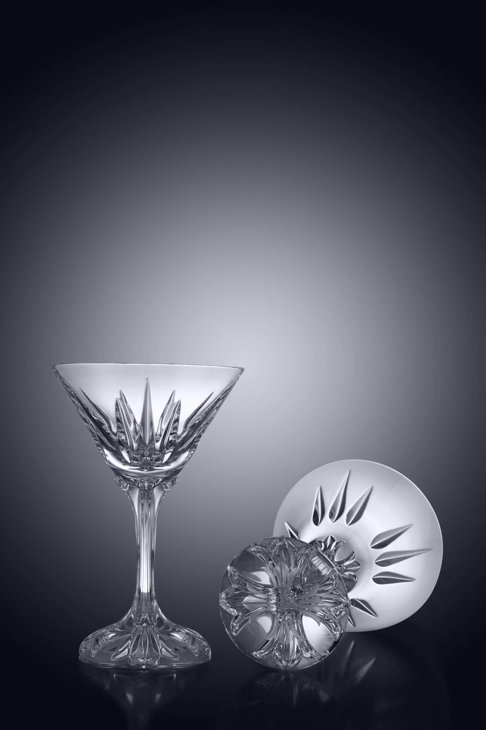 "25 Unexpected Ways To Say ""I Love You"" this Valentine's Day, Chrome Hearts x Baccarat Crosstail Martini Glass Set"
