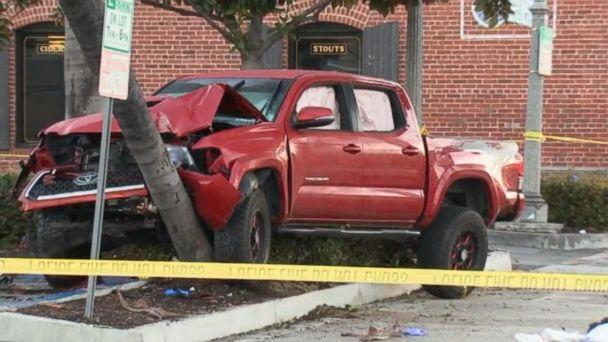 PHOTO: Nine pedestrians were struck by a driver under the influence in downtown Fullerton, Calif., Feb. 10, 2019. (KABC)