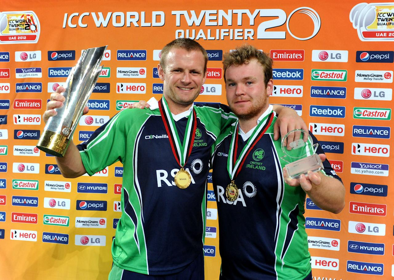 Paul Stirling's 38-ball 79 helped Ireland beat Afghanistan by five wickets in the final of the World Twenty20 Qualifier in Dubai. Mohammad Shahzad's 77 from 57 balls had helped Afghanistan set Ireland a target of 153, but Stirling's knock ensured his team would overhaul the target despite a mid-innings stumble. As a result of the win, Ireland will be grouped with Australia and West Indies in the T20 World Cup.