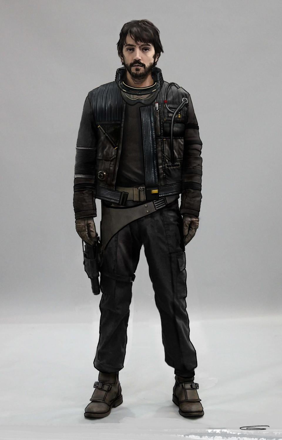 <p>Meanwhile, this rendering of the Rebel captain does feature the likeness of the film's Diego Luna. </p>