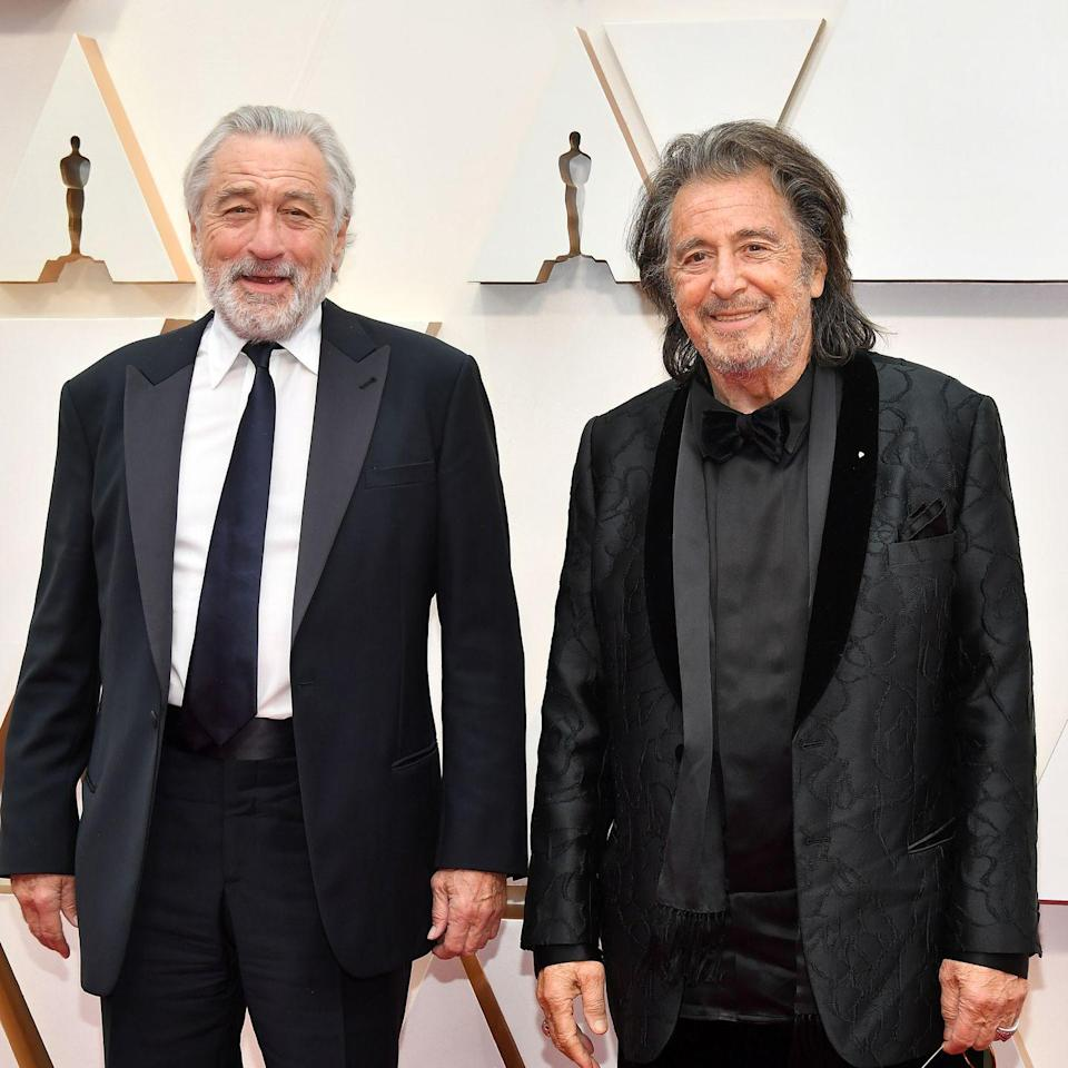 <p>De Niro, now in his late 70s, has been gray since the '90s. Now, with a full white beard as well, he's never looked so jolly. </p>