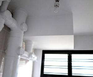 Rusty piping and ceiling cracks fixed in a HDB flat after the Home Improvement Programme works