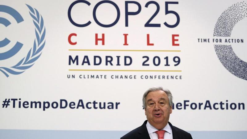UN chief says 'war against nature must stop' on eve of COP25