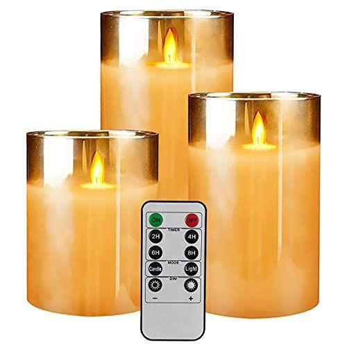 """<p><strong>Yinuo Candle</strong></p><p>amazon.com</p><p><strong>$26.99</strong></p><p><a href=""""https://www.amazon.com/dp/B07G34MDWC?tag=syn-yahoo-20&ascsubtag=%5Bartid%7C10049.g.36741989%5Bsrc%7Cyahoo-us"""" rel=""""nofollow noopener"""" target=""""_blank"""" data-ylk=""""slk:Shop Now"""" class=""""link rapid-noclick-resp"""">Shop Now</a></p><p>Dorms typically don't allow candles (sad), so here's a flameless option that you can control with a handy-dandy remote. </p>"""