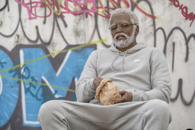 Kyrie Irving as Uncle Drew in the eponymous film. (Photo: Courtesy of Lionsgate)