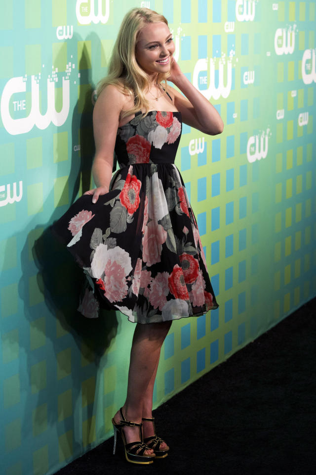AnnaSophia Robb attends The CW Television Network's Upfront 2012 in New York, Thursday, May 17, 2012. (AP Photo/Charles Sykes)