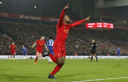 Liverpool's Georginio Wijnaldum celebrates scoring their first goal